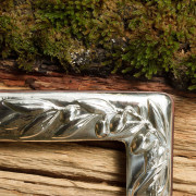 5001 cornice portafoto argento olivo dettaglio