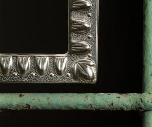 5017 portafoto argento bugne - dettaglio