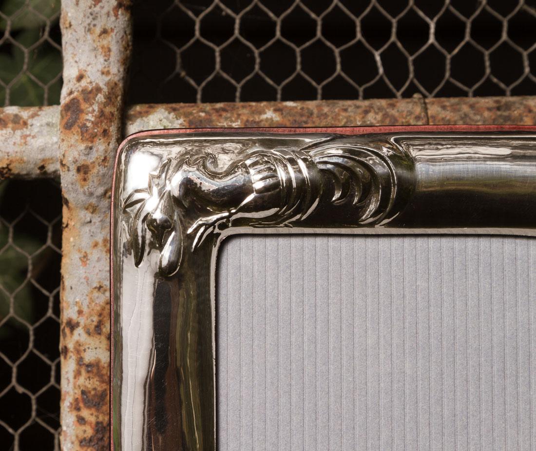 5025 portafoto argento galletto dettaglio