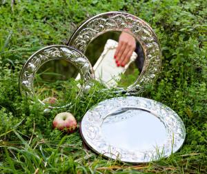 5031 spiecchiera argento con ciliege