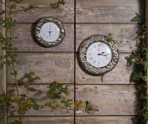 6030 - 6031 orologi cornice argento limoni - ciliege