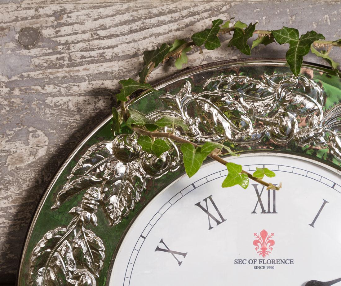 6031 dettaglio cornice orologio argento ciliege