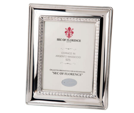 Cornici d 39 argento modello portafoto sec of florence for Cornici nere per foto